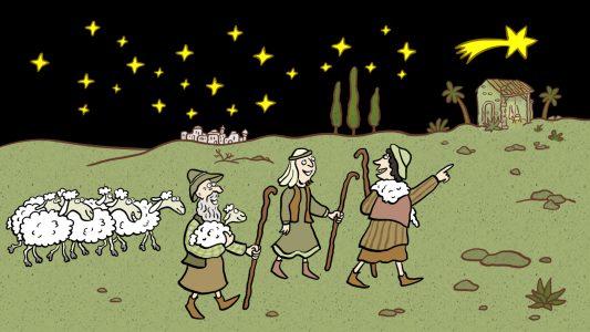 Weihnachten, Geschichte, Jesus Geburt, Krippe, Hirten, Krippenspiel, Stern, Schafe Bethlehem