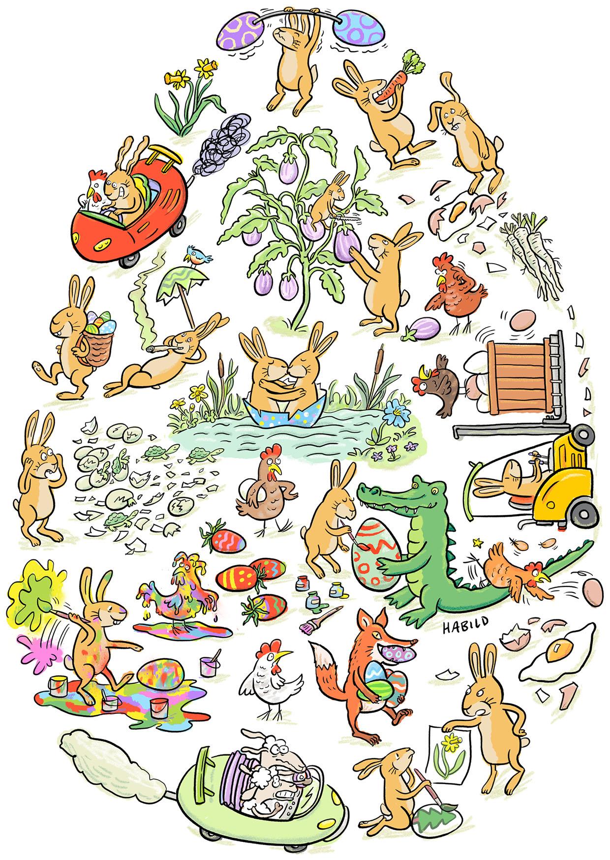 Ostern, Hase, Osterhase, Eier, Osterei, Hühner, Hennen, Lamm, Osterlamm, Bemalen