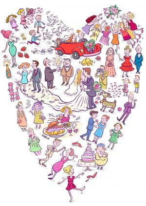 Hochzeit, Heiraten, Braut, Bräutigam, Herz, Trauung