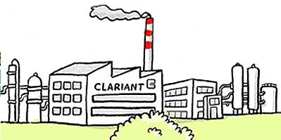 Clariant, Fabrik, Chemie, Schornstein, Industrie