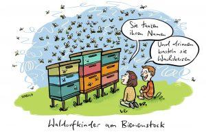 Bienen Waldorfschule Bienenstock Honig Kerzen Wachs Eurythmie