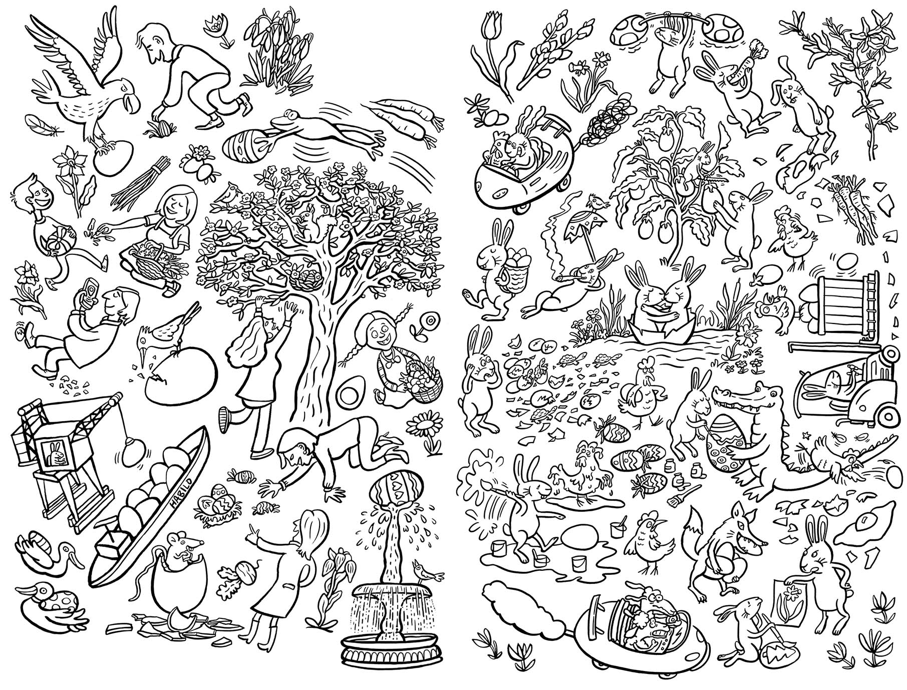Frohe Ostern Ausmalkarte Inkognito H Bild