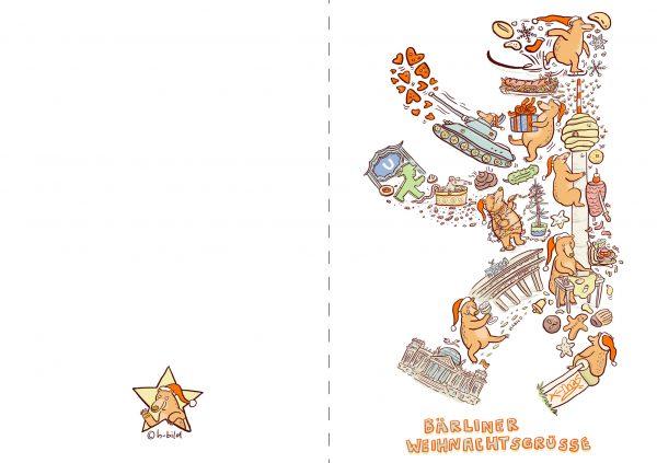 Weihnachten Karte Berlin