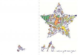 Weihnachten Karte Engel Stern