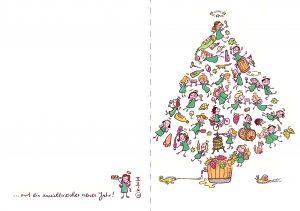 Weihnachten Karte Engel betrunken Alkohol besoffen Wein Rausch Besäufnis