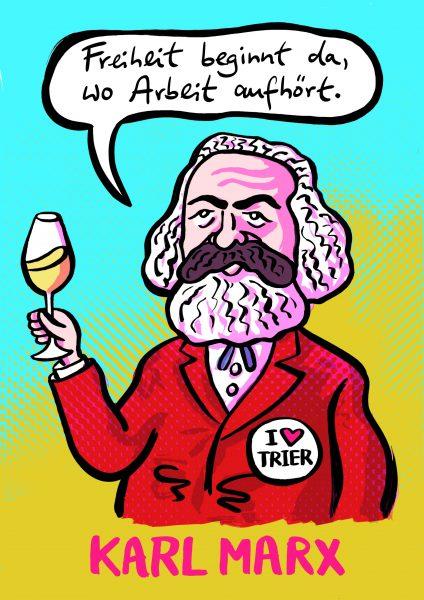 Karl Marx Trier Freiheit Wein Arbeit