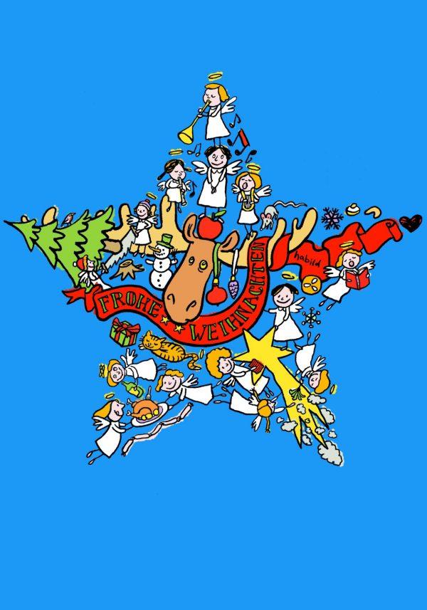 Weihnachten Stern Engel