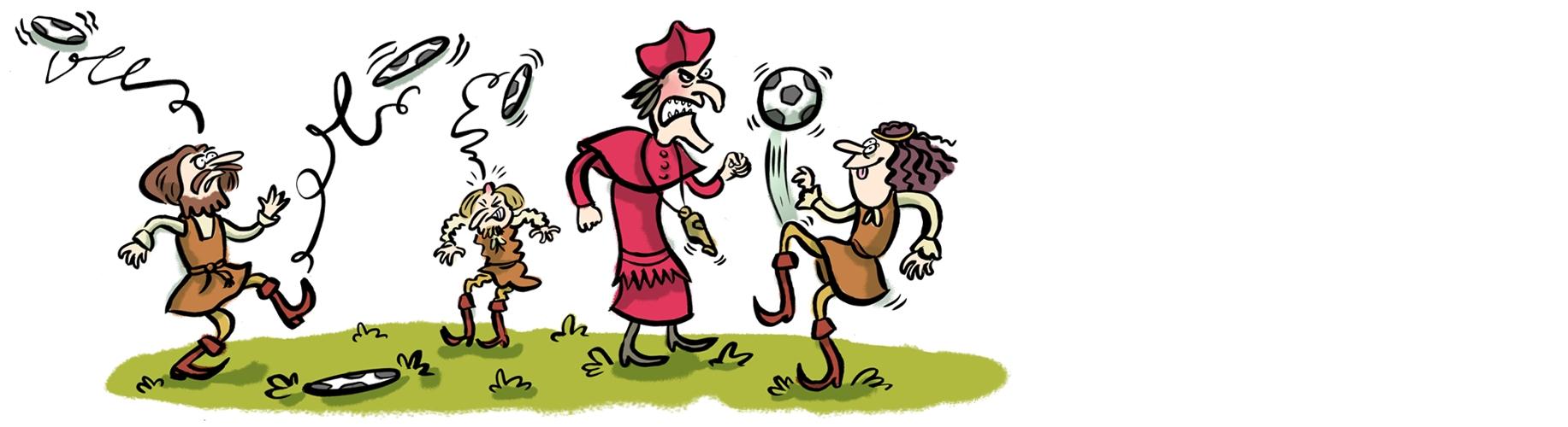 fussball freude karikatur