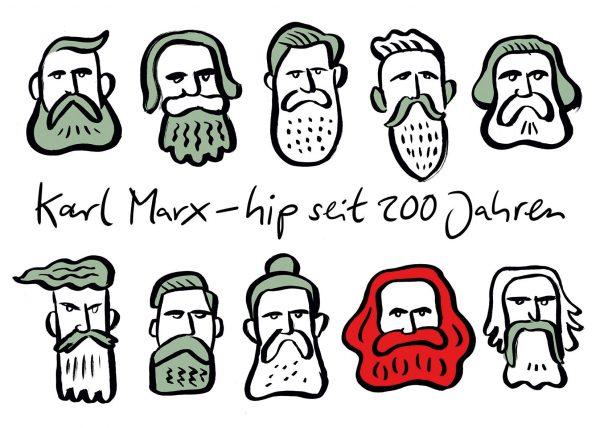 Karl Marx Trier Hipster hip Bart Bärte cool
