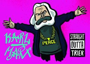Karl Marx Trier Rapper Hip-Hop Tag Graffiti Peace Frieden Kommunismus