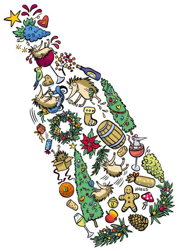 xmal christmal hedgehog Weihnachten Igel Wein Fest Feier Trauben Winter Herbst Weihnachtskarte Tiere Mofa Motorroller