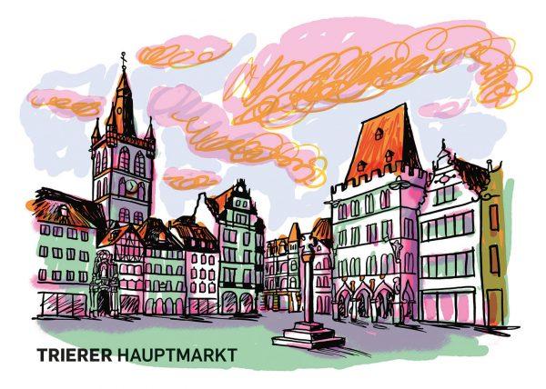 Trierer Hauptmarkt steipe st. gangolf marktkreuz