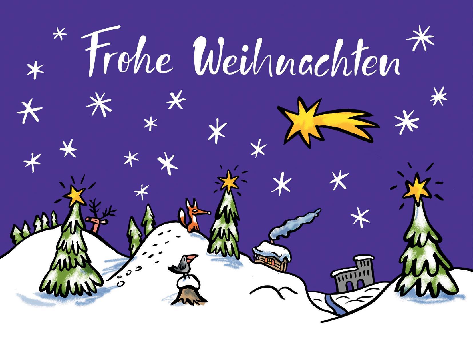weihnachtslandschaft eifel  postkarte • 59  hbild