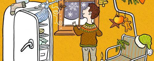 Weihnachtsgeschichte, Eiskristalle, Zauber, Weihnachten, Instrumente, Schlittschuh, Kühlschrank, Eis, Glitzer, Raureif