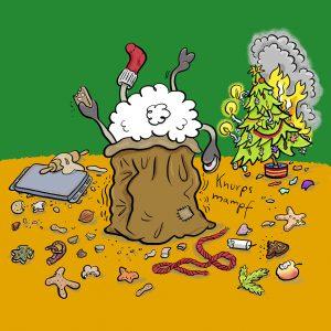 Weihnachten, Nikolaus, Sack, Baum, brennend, Plätzchen, Advent