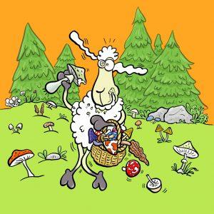 Elvis, Schaf, Pilze, Sammeln, Giftpilz, Wald
