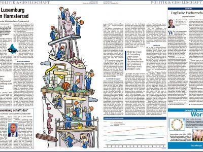 Baustelle, Luxemburg, Hausbau, Wohnen, Bevölkerungswachstum, Bevölkerungsexplosien, Bauarbeiter, Turmbau Babel