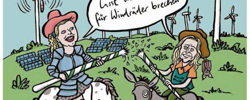 Windrad, Windenergie, Solarenergie, Frösche, Fledermaus, Don Quijote, Luxemburg, Energiewende