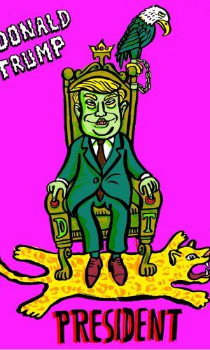 cabinet Donald Trump Kabinett Horror president despot diktator dictator tyrann wahnsinn verrückt adler usa minister secretary