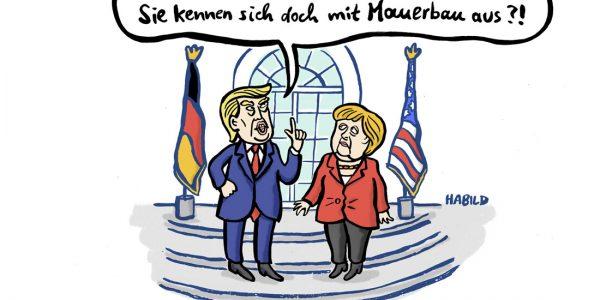 Donald Trump Angela Merkel Mauer Protektionismus Mexiko Autobau DDR Auto-Industrie Wirtschaft Zusammenarbeit Strafzölle Sanktionen