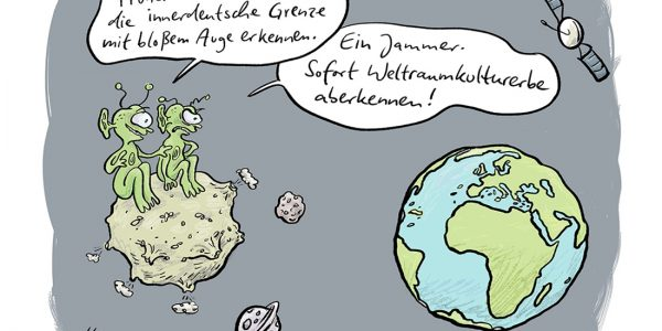 Alien Marsmännchen Weltall Wiedervereinigung